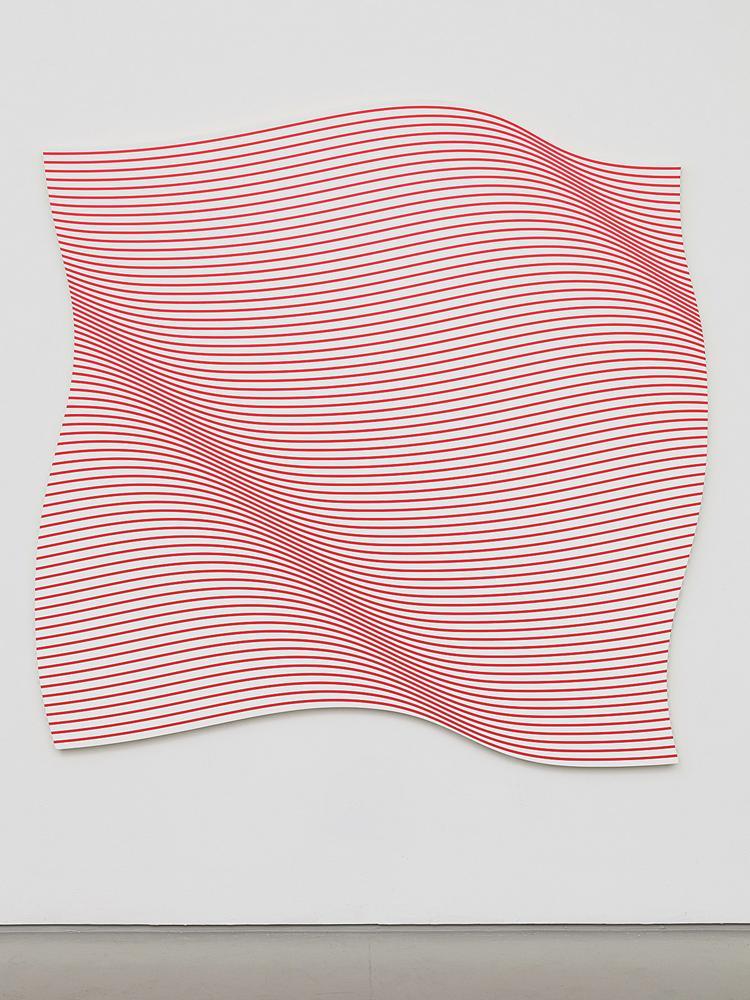 Entre las obras de arte contemporáneo que se exhibirán en el nuevo espacio están Flag, de Philippe Decrauzat (2015).