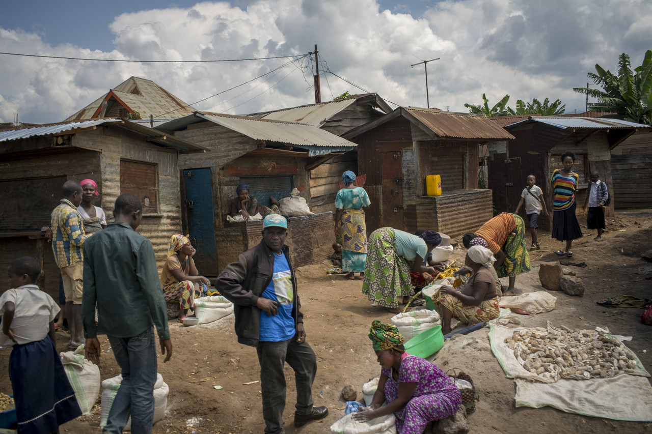 A market in Kamamba, Congo. The rise of specialty coffee is boosting incomes for some farmers.