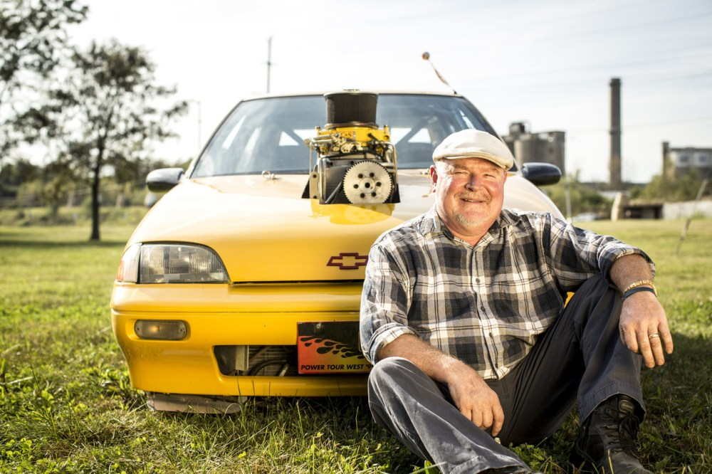 medium resolution of gerard pfeffer with his 1989 geo metro outlaw streetcar in st louis