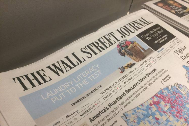The Wall Street Journal to Combine Sections to Cope With