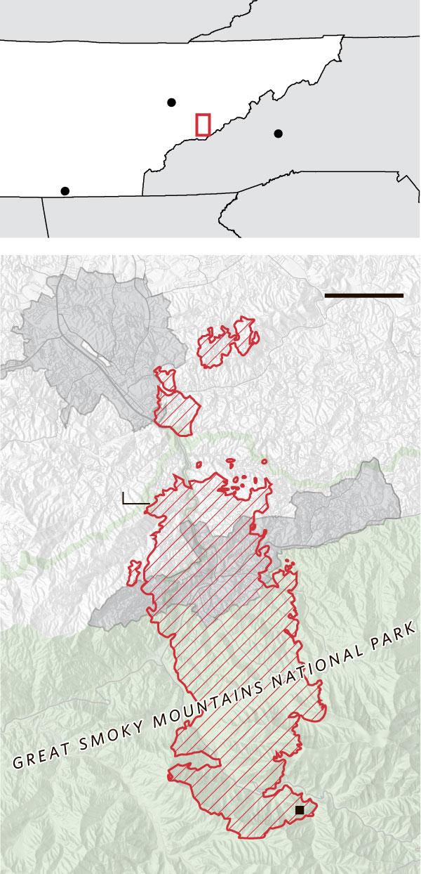 Gatlinburg Fire Map 2016 : gatlinburg, Gatlinburg, Residents, Rebuild, After, Wildfires, Ravage