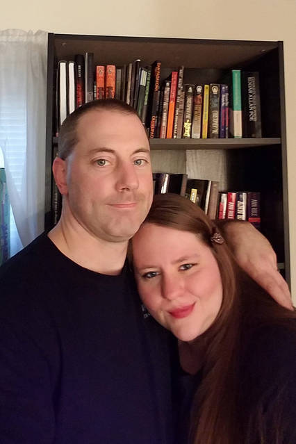 Amber Fallon and her husband John finally compromised about keeping their large book collections.