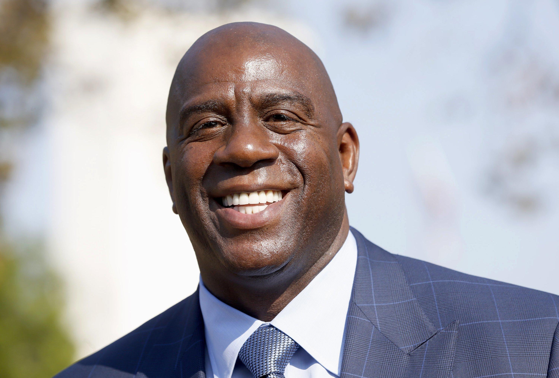 Lakers Name Magic Johnson Team President Wsj