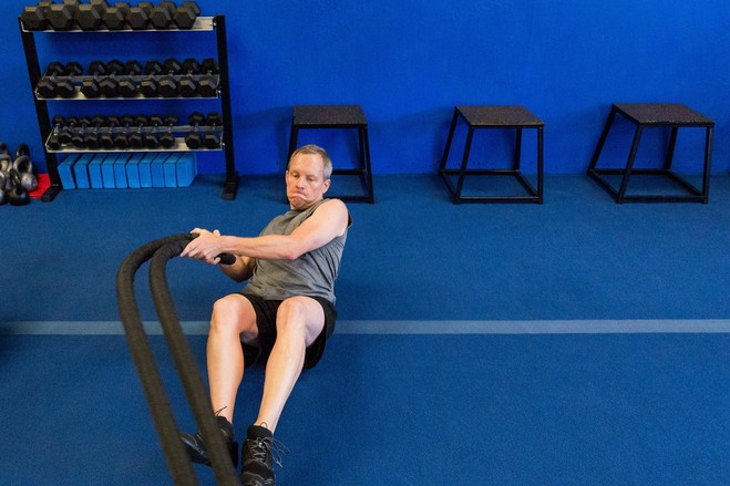 chair exercise justin timberlake little girls vanity table and the joy of jump rope wsj mr opperman uses a battle to work his core upper body