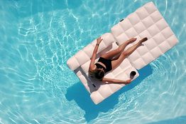 chair pool floats baby chairs kmart is this 450 inflatable lounger the porsche of wsj
