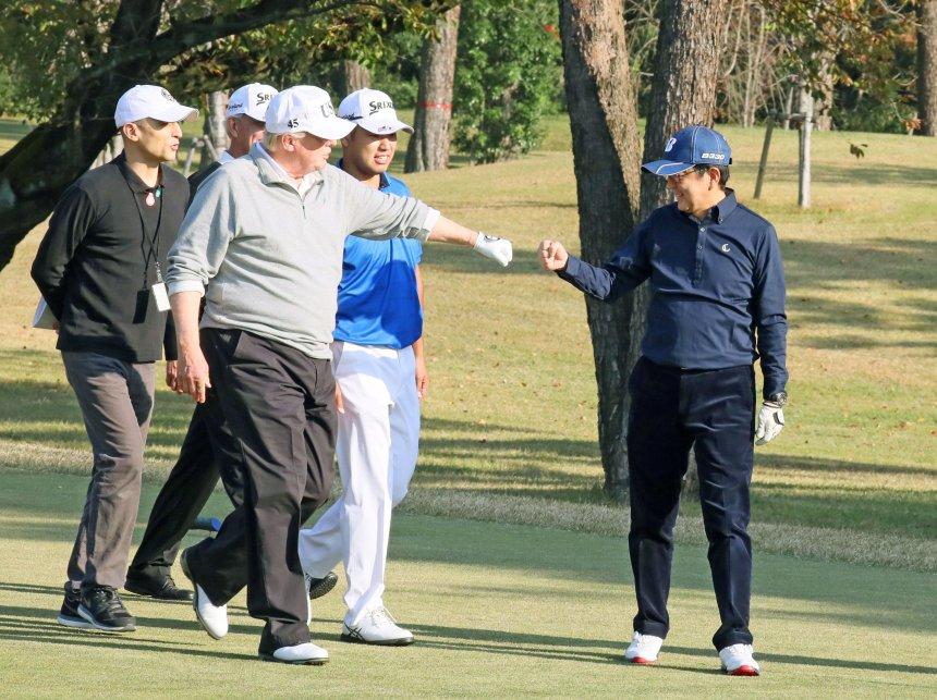 Image result for trump golfing president