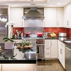Kitchen Picture Inside Cabinet Organizers How Top Restaurant Architects Design Their Own Kitchens Wsj The Countertops And Island Are Polished Black Granite Mr Beers Designed Backsplash