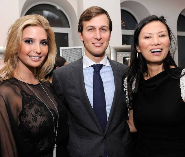 From Left Ivanka Trump Jared Kushner And Wendi Deng Murdoch At A Benefit In