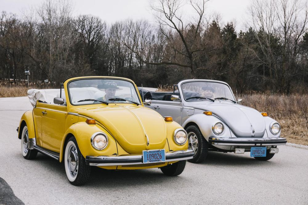 medium resolution of the jaecks with their 1978 and 1979 beetle convertibles