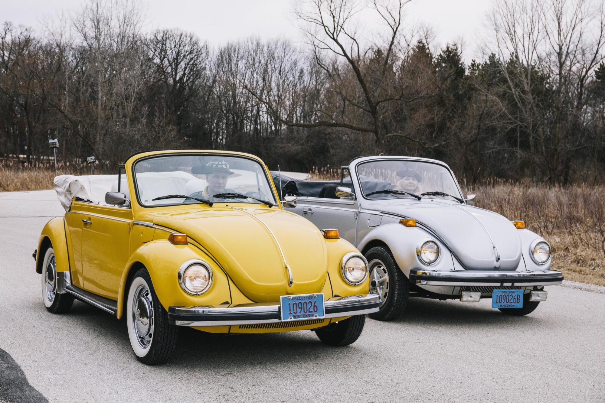hight resolution of the jaecks with their 1978 and 1979 beetle convertibles