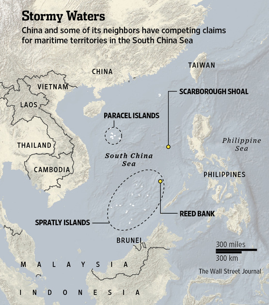 Contested claims in South China Sea