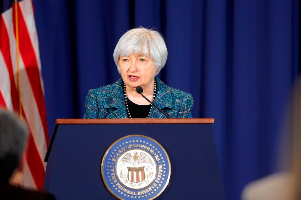 Federal Reserve Chair Janet Yellen at the central bank in Washington, Oct. 30.
