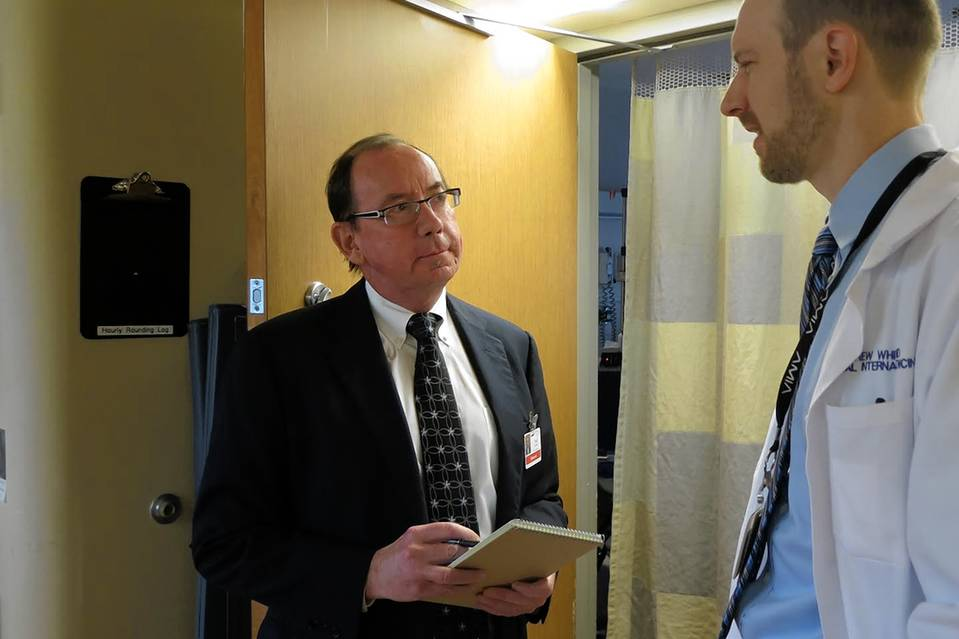 Paul Lifschultz's inquisitiveness as a patient got him invited onto a University of Washington Medical Center advisory council, where he sometimes accompanies doctors on their rounds.