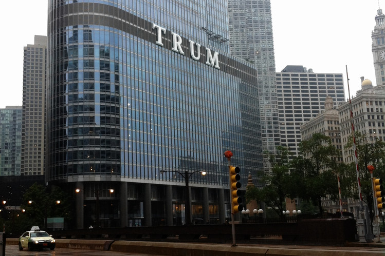 Trump Sign Riles Chicago  WSJ