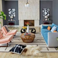 Kitschy Living Room Design Styles Ideas Midcentury But Not A Update Wsj Redesign Of The In San Marino Calif Home Showcased Original Travertine Fireplace While Giving Decor Fresh Look