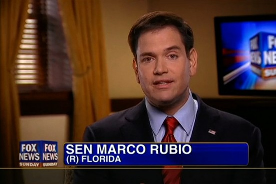 Sen. Marco Rubio, R-Florida, confessing he hasn't read what he claims to oppose.