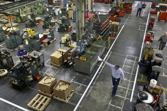 Factory Floor Has Ceiling on Job Creation  WSJ