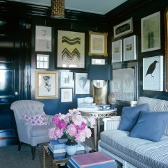 Living Rooms Decorated In Navy Blue Room Curtains For Yellow Walls Why Dark Are A Bright Design Idea   Well By ...