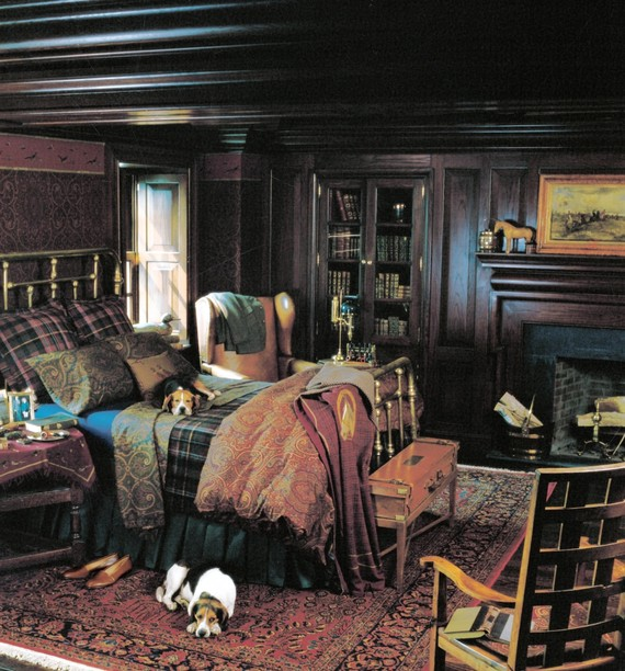 ralph lauren living room furniture townhouse design learning from 30 years of home wsj