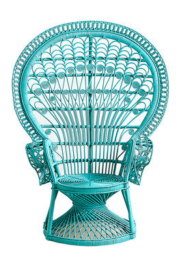 rattan peacock chair bertoia style white the comeback of morticia addams s favorite seat wsj anthropologie new take on 598 reina