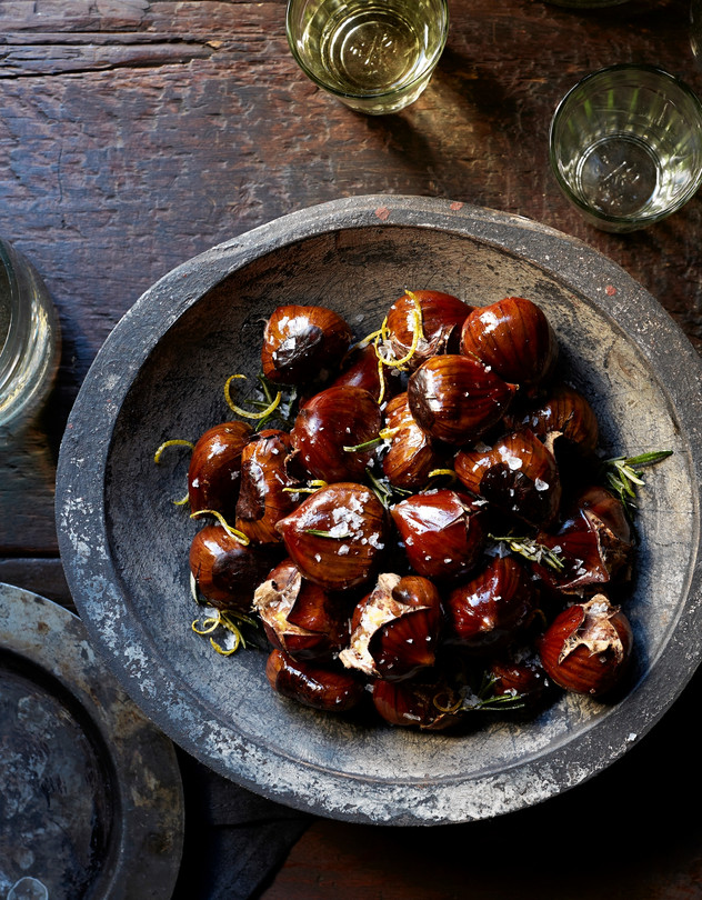 Lemon-Rosemary Roasted Chestnuts