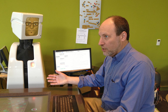 Professor Reid Simmons designed Victor to display a range of emotion. James R. Hagerty/The Wall Street Journal