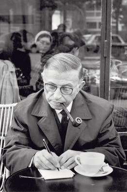 Picture of Satre sat in cafe