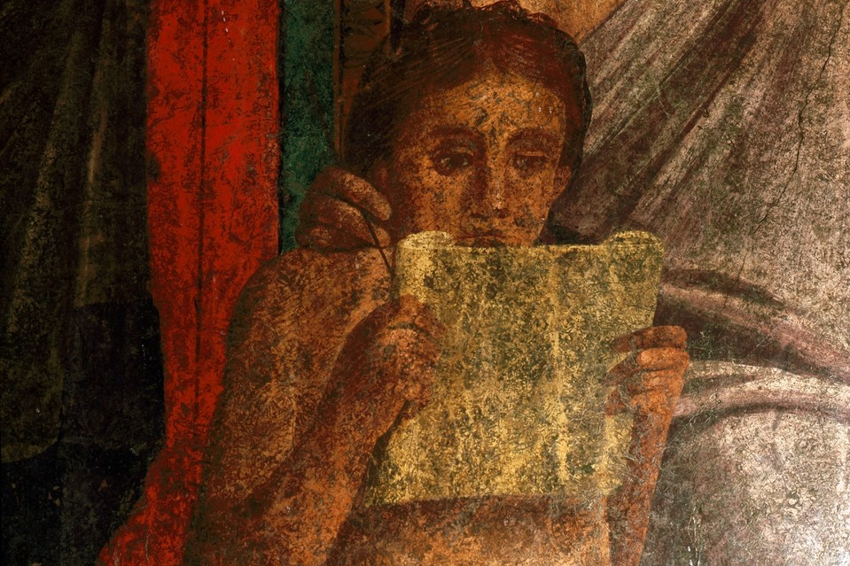 A fresco from the Villa of the Mysteries, Pompeii.