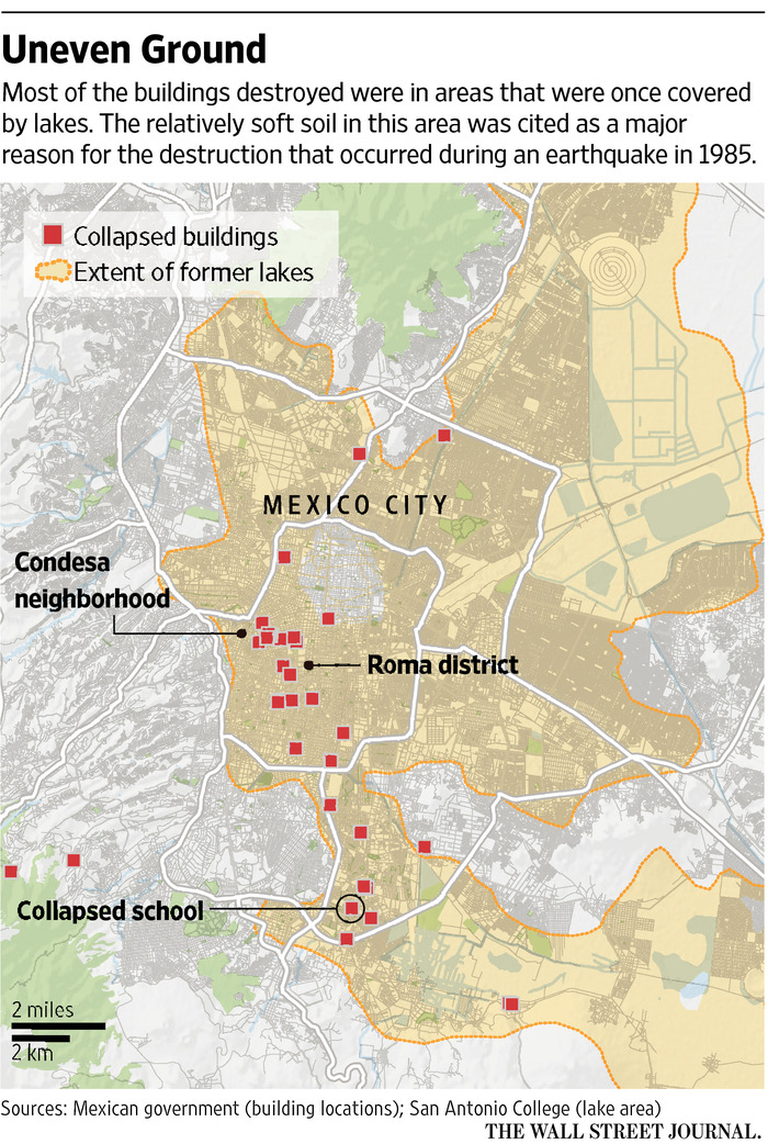 Mexico City Earthquake Map : mexico, earthquake, Mexico, Quake,, Geography, Building, Codes, Played, Important, Roles