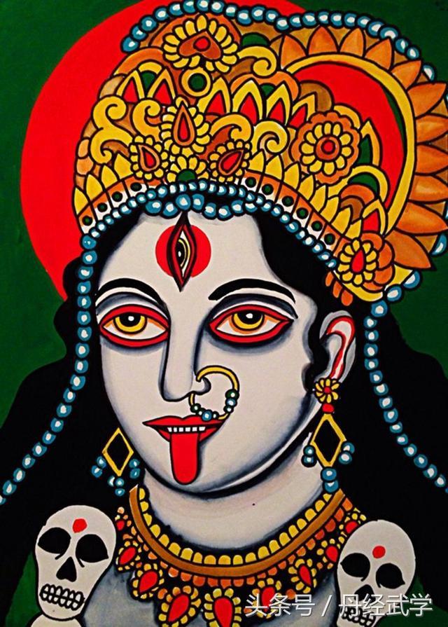 印度神畫丨Kali 丨雪山神女降魔相 濕婆神妃黑迦梨 - 每日頭條