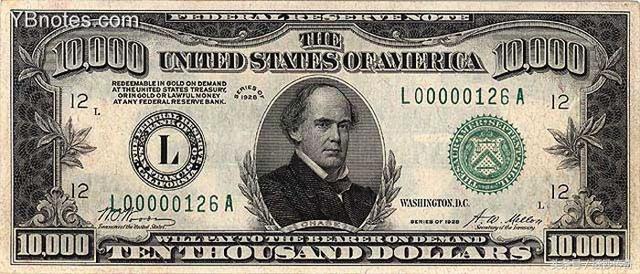 錢幣收藏:你沒見過的10萬美金面值紙幣,價值80多公斤黃金 - 每日頭條