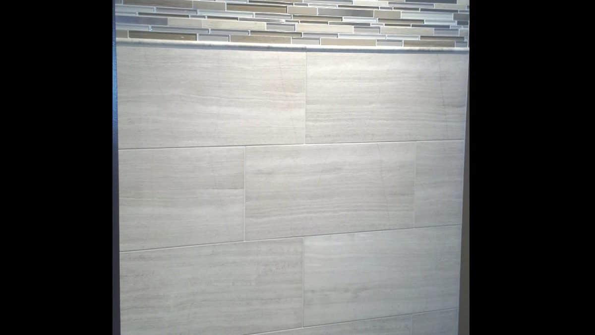 white birch 12x24 tile with mosaic