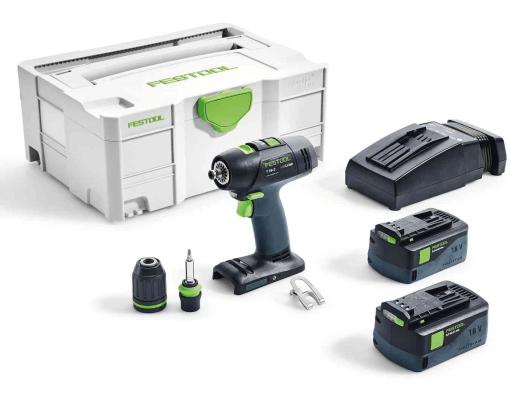 FESTOOL Cordless drill T 18+3 Li 5,2-Plus GB