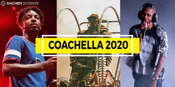 travis scott, 21 savage, frank ocean coachella 2020 headliner lineup siachen studios