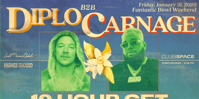 Diplo & Carnage Announces 10-Hour House Set At Miami Club Space For Super Bowl Weekend