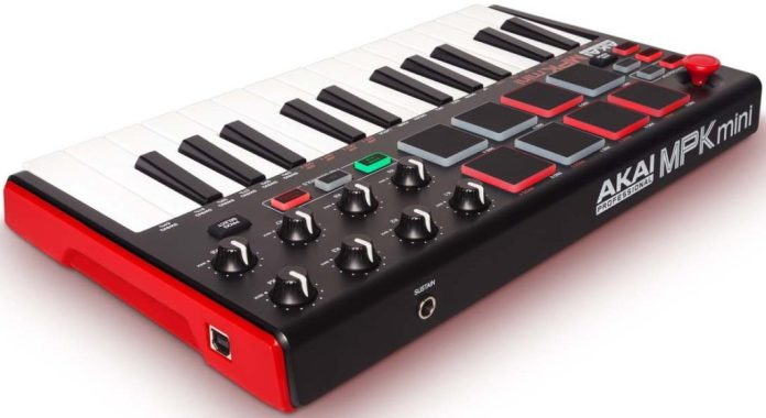 Akai MPK Mini MK2 midi keyboard