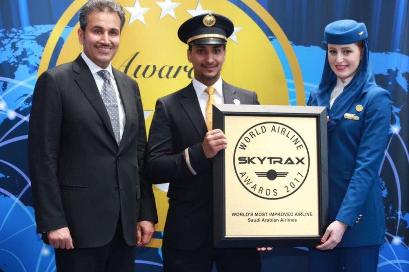 سكاي تراكس: الخطوط السعودية من افضل شركات الطيران في العالم لعام 2017
