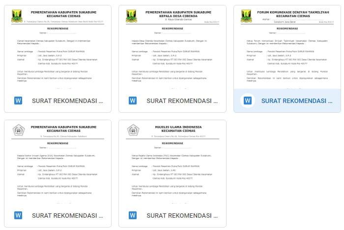 Contoh Surat Rekomendasi Mendirikan Pondok Pesantren