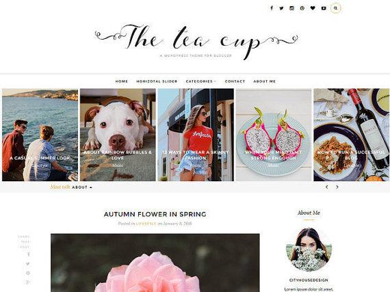 Etsy blog design Tea cup