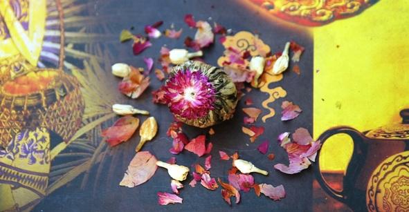 Wilde Teeblume aus Nordthailand mit natürlichen Aromaspendern - Lieferumfang