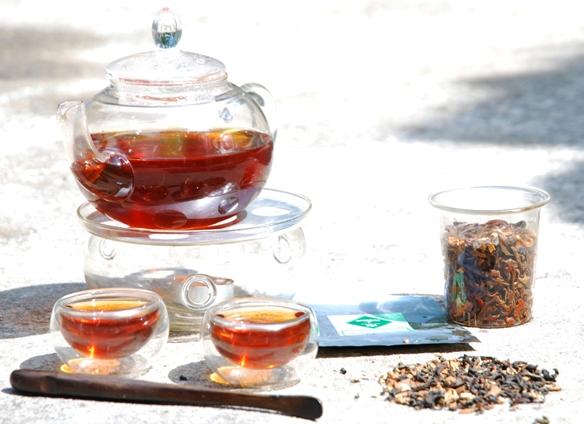 Oriental Chai Thai-Teemischung geflütet von Licht