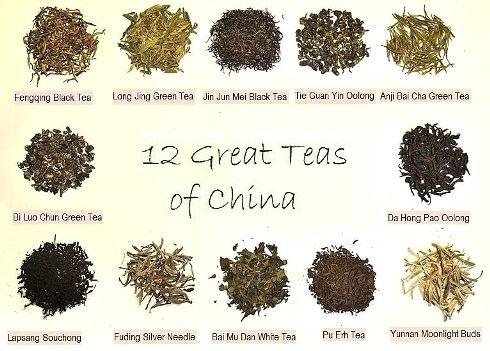 12 berühmte chinesische Tees im Siam Tee Shop