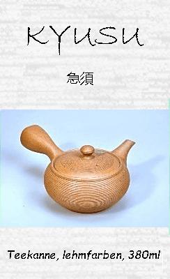 Japanische Teekanne, lehmfarben, 380ml, Handarbeit aus TonTon