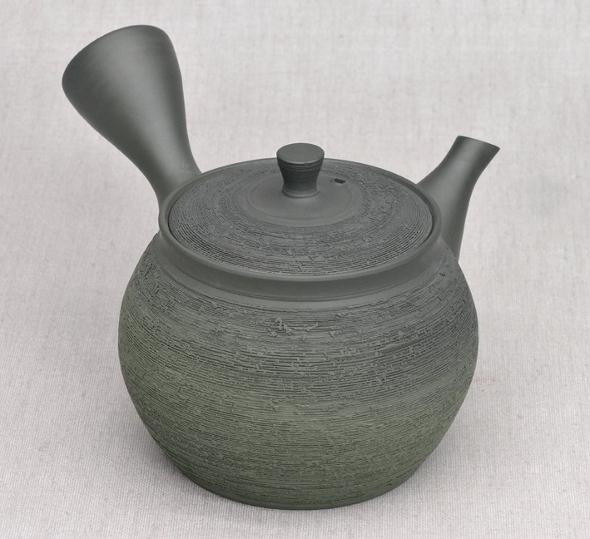 Japanische Kyusu-Teekanne (Seitengriff-Teekanne), 300ml, Unikat