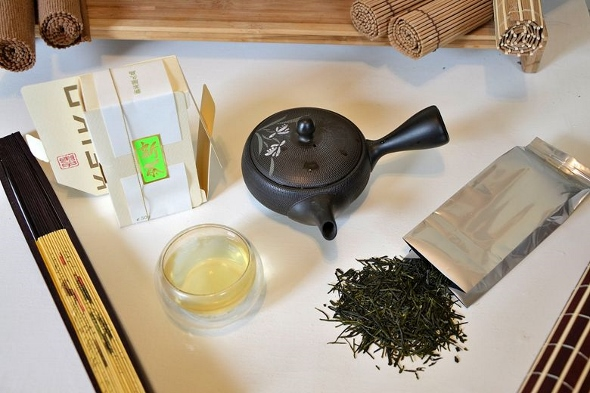 Fresh Shincha tea from the first spring harvest on Yakushima island