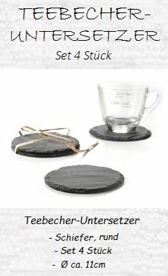Becher-Untersetzer aus Schieffer, rund, Ø 11cm