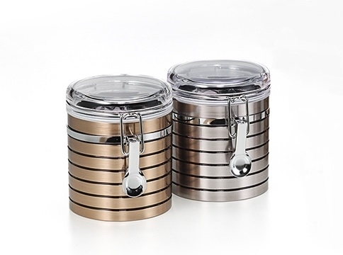 Teedose Hasine, 150g, Metall / Plastik, rund