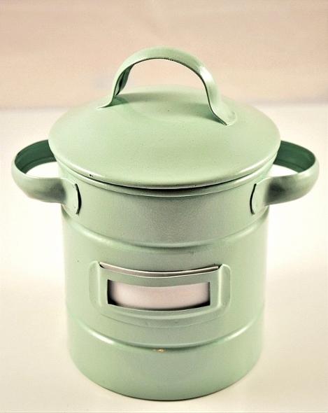 Ausgefallene Teedose 'Nevio', 200g - Edelstahl, mit Etikettenhalter