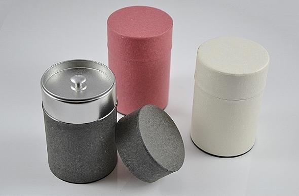 Teedose 'Sayo', 65g / Dose - Metall, rund, Aromaverschluß