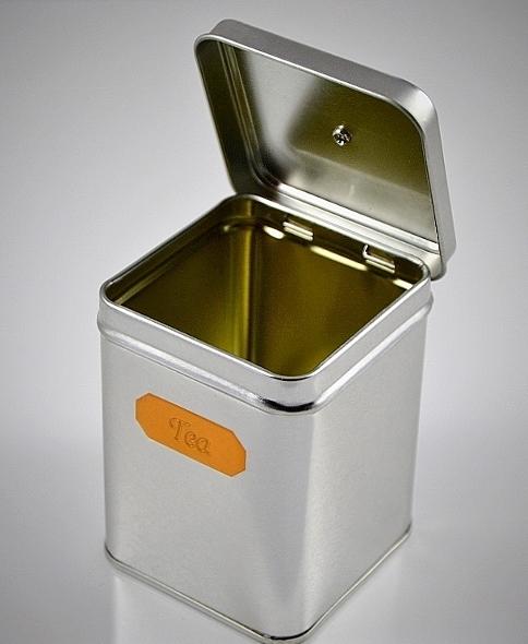 Klassische Teedose 'Tea' 100g - mit Knopfdeckel